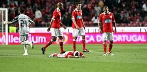 Humilhação da derrota foi sentida por vários jogadores do Benfica