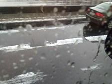 Pavimento da Segunda Circular também foi afectado pelo fenómeno meteorológico