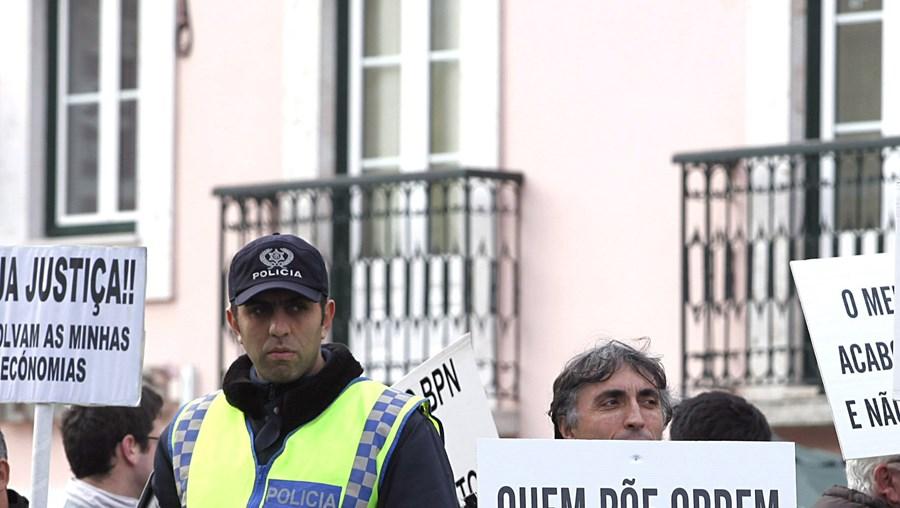 Nos últimos dois anos houve várias manifestações de clientes do BPN em frente às agências do banco
