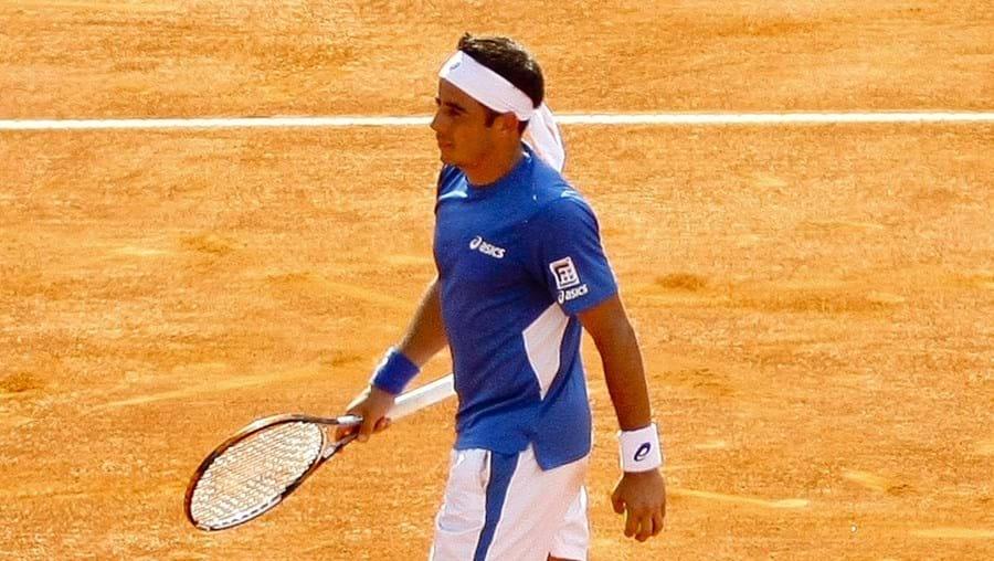 Frederico Gil ficou pela segunda ronda do Estoril Open, depois de ter atingido a final em 2010