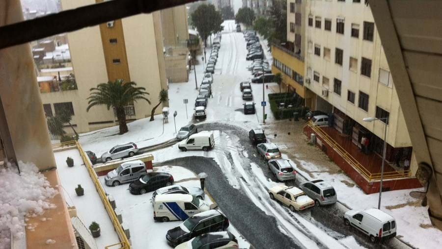 Zona de Benfica foi das mais afectadas pelo mau tempo súbito