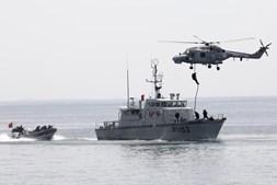 O Helicóptero Lynx participou em várias demonstrações da sua capacidade operacional.