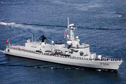 O primeiro navio de patrulha oceânica 'Viana do Castelo' também marcou presença nas comemorações.