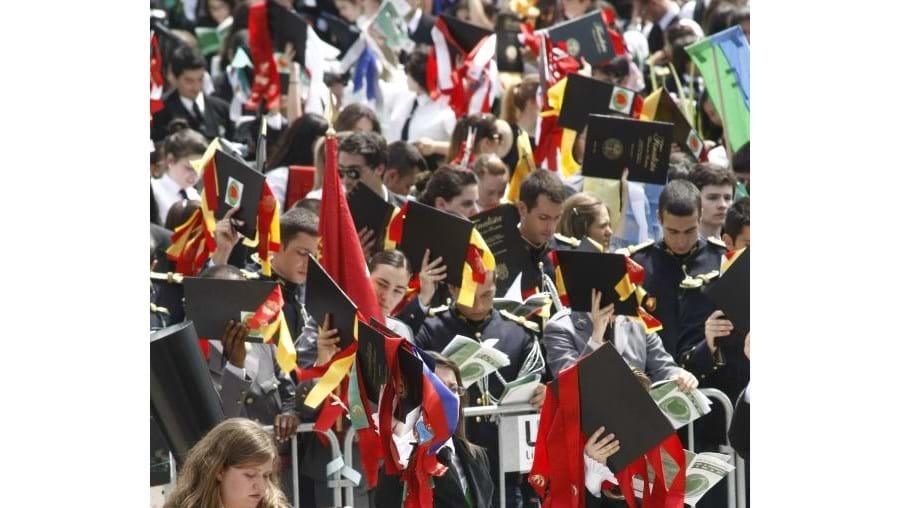 Alameda da Universidade de Lisboa encheu-se com milhares de estudantes
