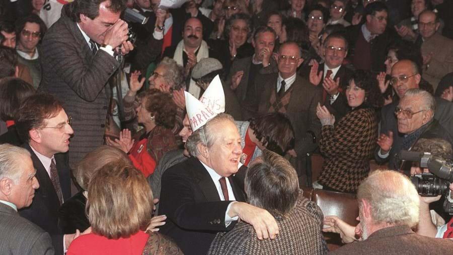 Mário Soares comemorou 66 anos na campanha de 2005