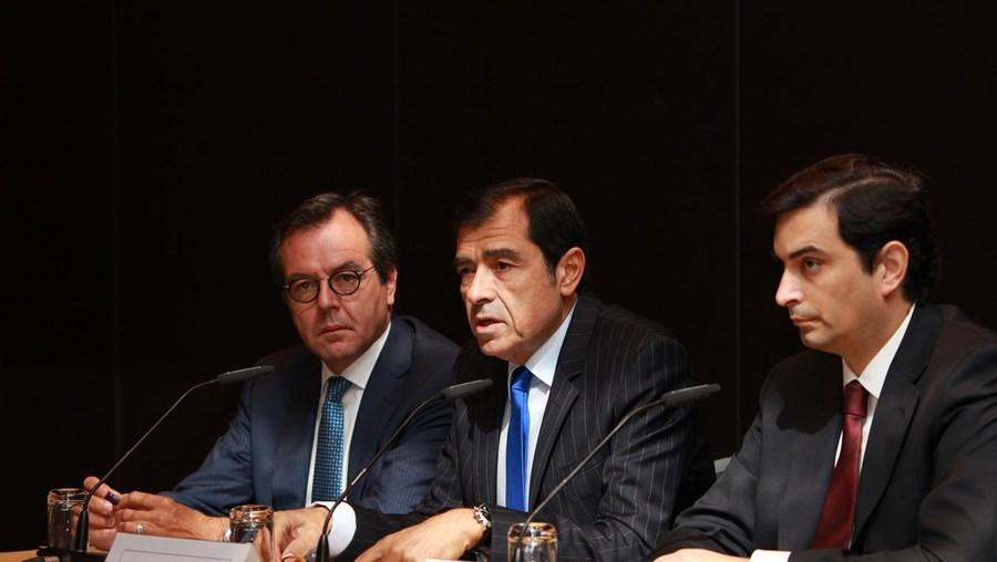 Luís Santana e José Eduardo Moniz durante a apresentação