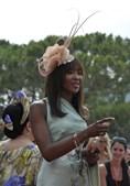 A ex-supermodelo Naomi Campbell foi uma das convidadas da cerimónia religiosa.