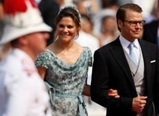 A Princesa Victoria e o Príncipe Daniel Westin, da Suécia, também se deslocaram ao Mónaco para assistir à boda real.