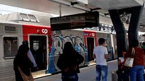 Salta do comboio e foge pela linha férrea