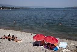 Lago suíço também serviu para enfrentar tempos mais quentes