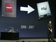 Os novos computadores da Apple passaram a utilizar chips da Intel a partir de 2005