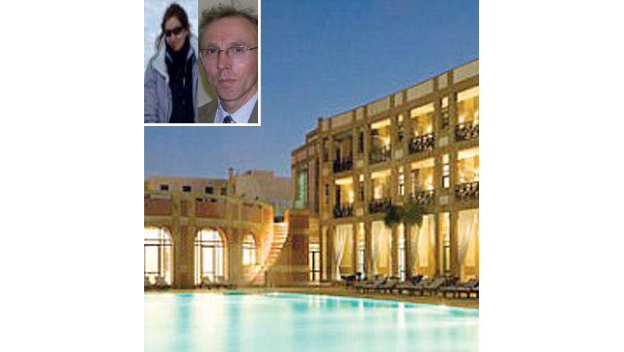 O casal gozava férias num resort da cidade de Essaouira