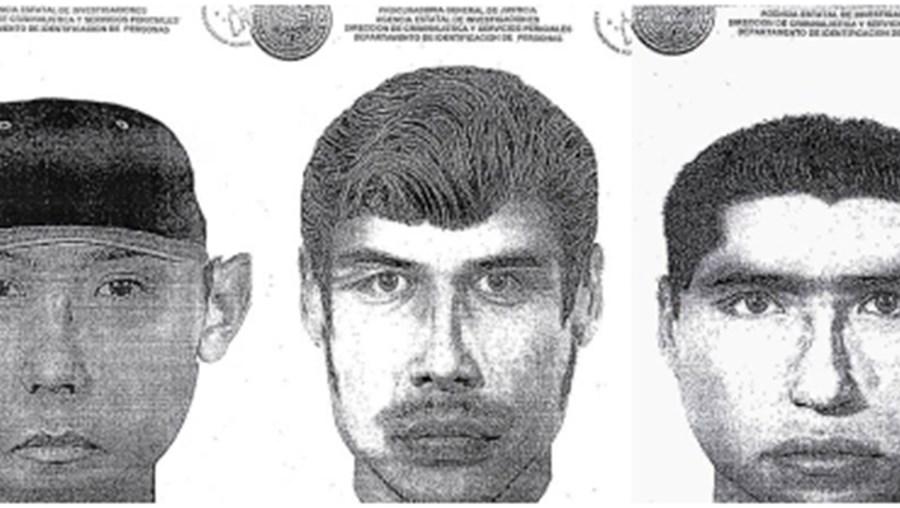 Retrato robô dos assaltantes divulgado pela polícia