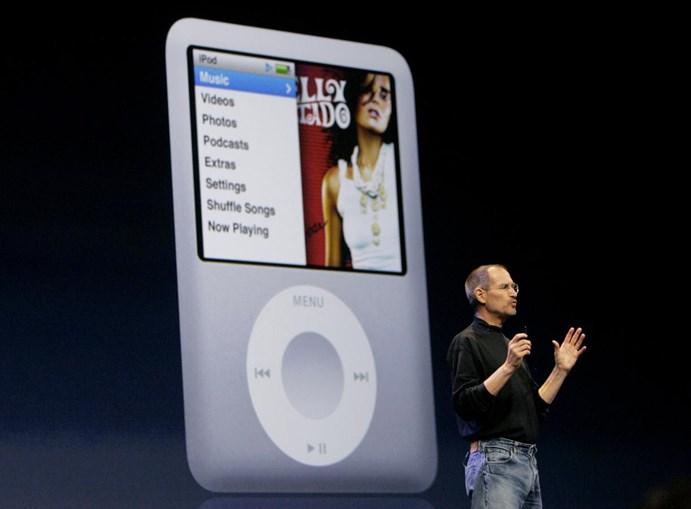O iPod tornou-se ainda mais minúsculo na versão Nano, que o líder da Apple apresentou em 2007