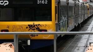 Comboios param ao final do dia