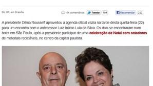Dilma dá a Lula presente feito com lixo