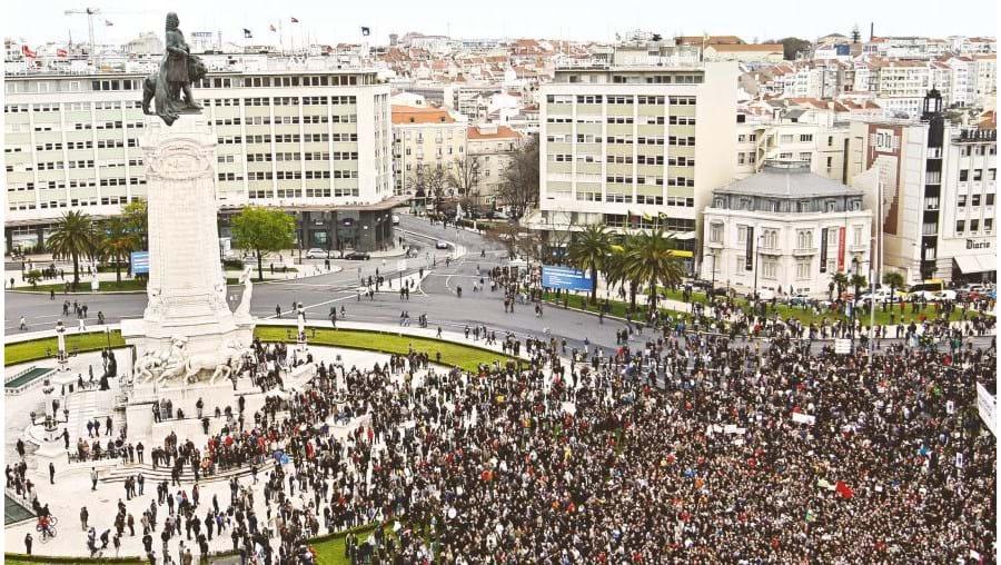 A 'geração à rasca' saiu em Março à rua para protestar