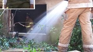 Idosos escapam a fogo em casa