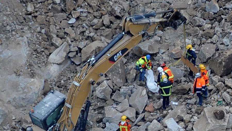 Acidente ocorreu durante os trabalhos de construção