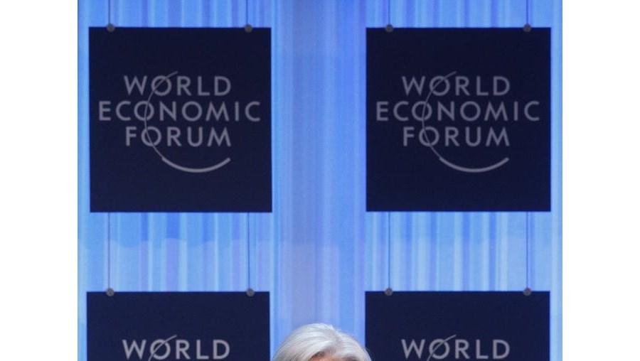 Christine Lagarde no Fórum Económico Mundial de Davos