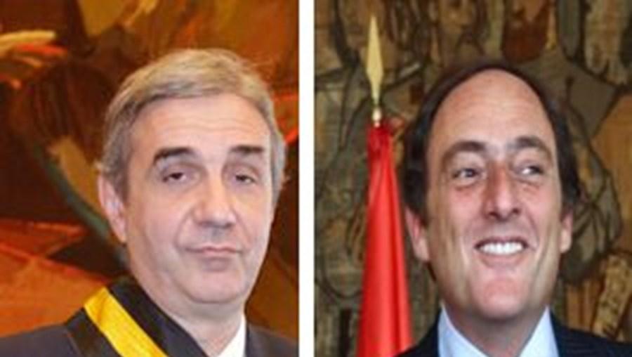 O embaixador Nuno Brito e o ministro dos Negócios Estrangeiros Paulo Portas