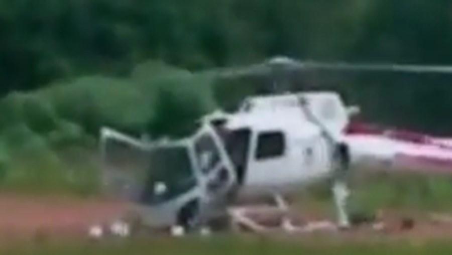 Ao tocar no chão, a aeronave desintegrou-se literalmente, tendo ficado a sua fuselagem totalmente em fragmentos
