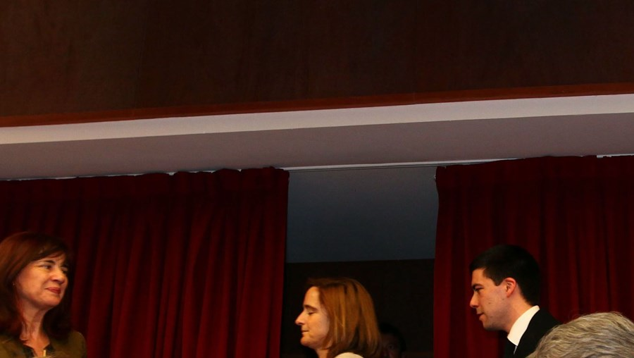 A ministra da Justiça, Paula Teixeira da Cruz, com o procurador-geral da República, Pinto Monteiro