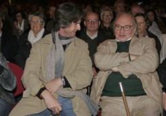 Junto a António Victorino d'Almeida na plateia do Pavilhão Atlântico, para assistir ao concerto de Carlos do Carmo com a Count Basie Orchestra