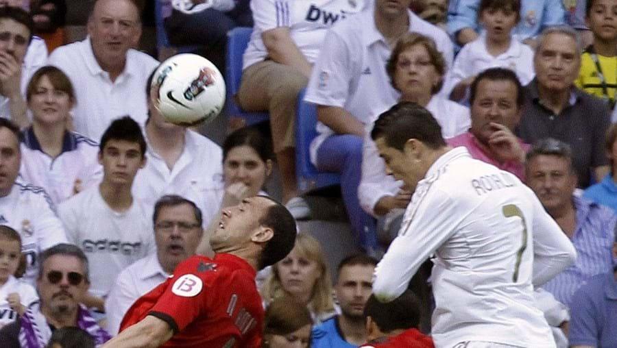 Ronaldo marcou de cabeça o primeiro golo dos merengues