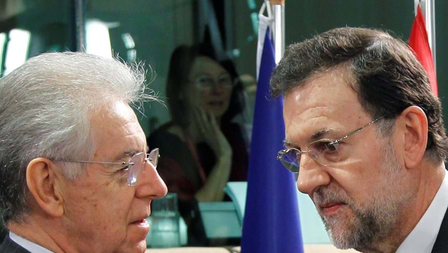 Mario Monti e Mariano Rajoy podem conseguir financiamento mais barato com proposta italiana