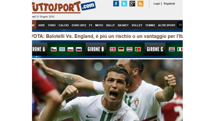 A exibição de Ronaldo está em destaque por todo o mundo