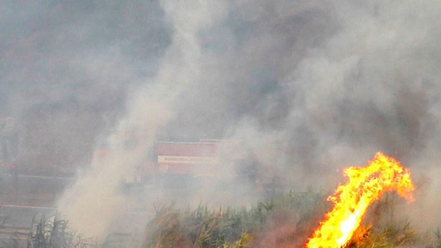 O ataque às chamas envolveu dezenas de bombeiros e viaturas de várias corporações