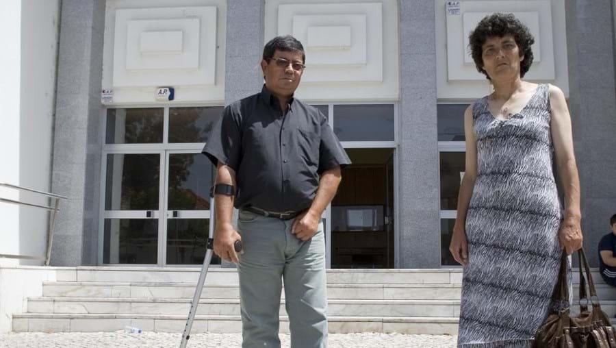 Pais da vítima à saida do tribunal de Benavente