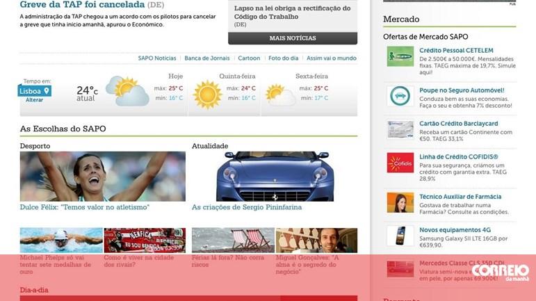 Portal Sapo Renova A Imagem Tv Media Correio Da Manhã