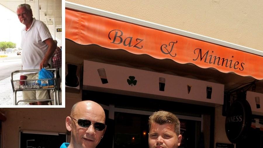 Os empresários Juvenal Sardinha e Barrie Sinnot, de Quarteira, queixam-se do turista sueco