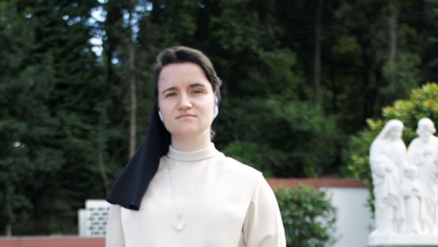 Ana Cristina Carvalho, 29 anos, é a freira mais jovem da Congregação da Divina Providência