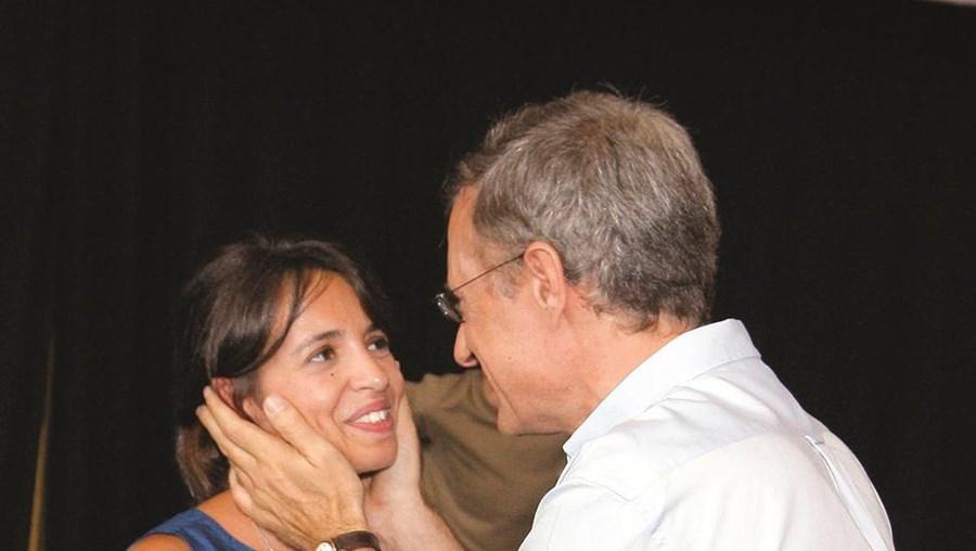 A deputada bloquista Ana Drago e o líder do BE, Francisco Louçã