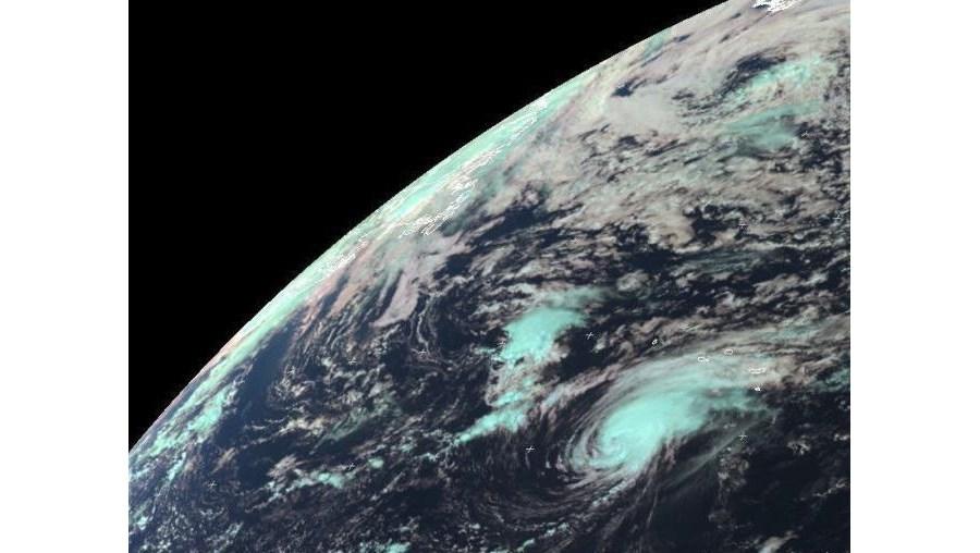 Imagem de satélite do furacão Gordon sobre o arquipélago dos Açores