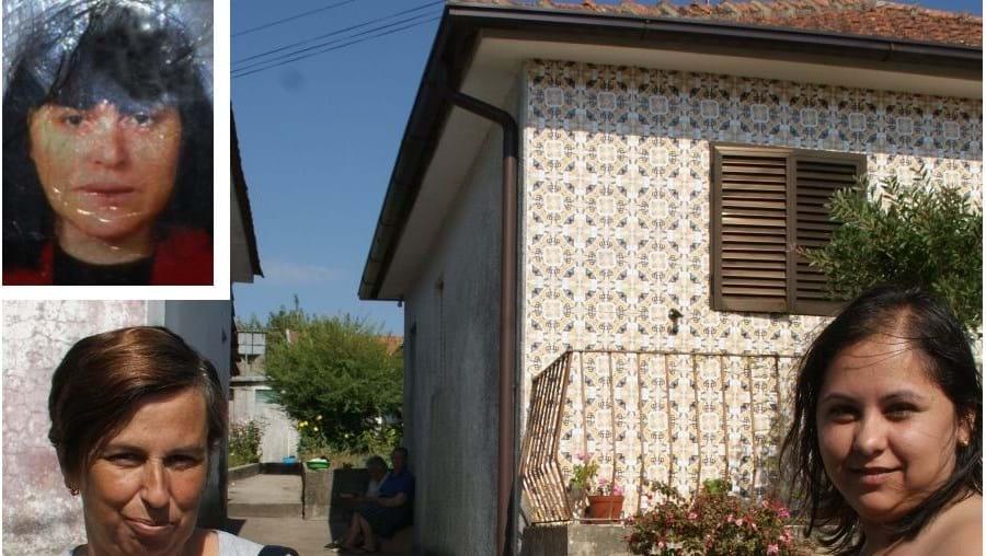 Glória Leão (à esq.) e Eleidy Mota (à dir.) encontraram a vizinha Idalina Alves Martins (foto peq) de 53 anos, morta em casa. A  Polícia Judiciária afastou cenário de crime