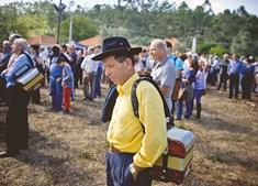 TRADIÇÃO. Manuel Gonçalves, de 80 anos, procura recordar a juventude através dos ritmos da sua concertina. Comprou a primeira há quatro décadas