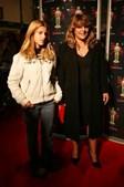 Com a filha, num evento associado à transmissão dos Óscares