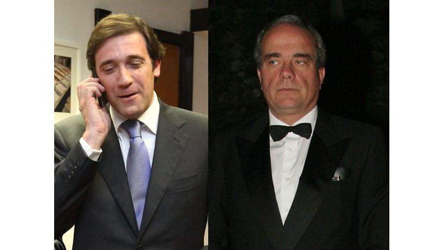 Passos Coelho e José M. Ricciardi foram apanhados em conversas fortuitas durante a investigação ao processo Monte Branco