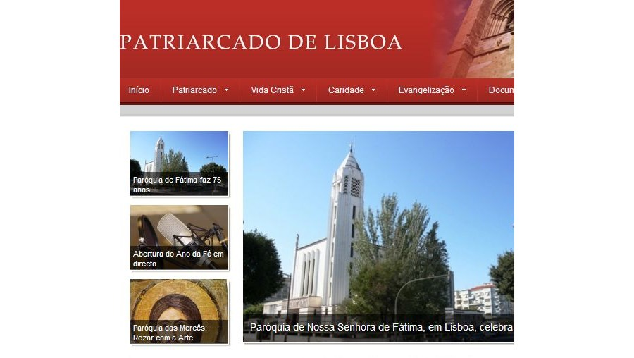A polémica imagem com D. José Policarpo esteve ontem no site do Patriarcado de Lisboa