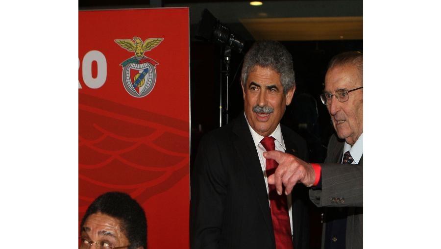 O Pantera Negra fez questão de ir apoiar Luís Filipe Vieira, que o saudou assim que entrou. Eusébio aplaudiu-o com entusiasmo. Ernesto Santos (sócio n.º 1 do clube) também esteve com Vieira.