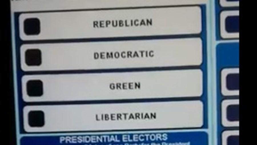 Momento em que a máquina trocou o nome do candidato