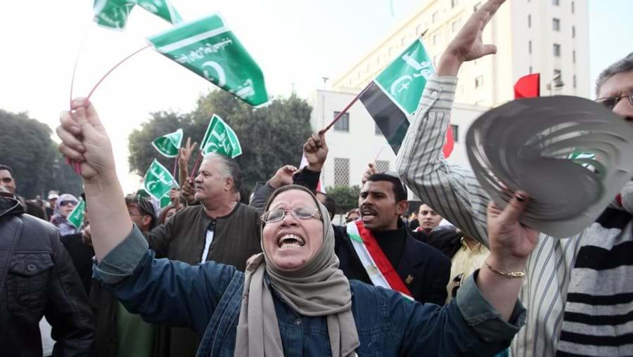 Milhares protestam no centro do Cairo contra o presidente egipcio