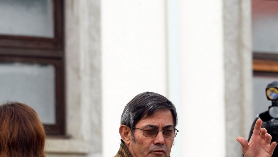 António Pereira à saída do tribunal de Torres Vedras, onde está a ser julgado por abusos sexuais