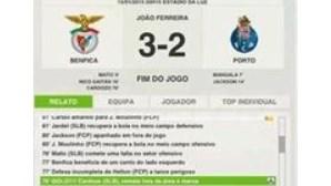 Empresa assume culpa por erro no resultado do Benfica-FC Porto