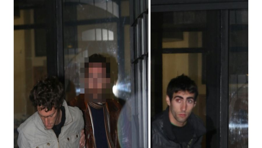 António (à esq.) e João Rosário (à dir.) saíram do Tribunal de Mértola já na madrugada de ontem