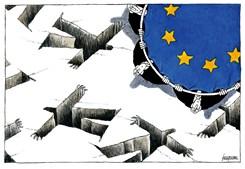 Kountouris. cartoonista grego, ganhou o primeiro prémio na categoria de editorial e o grande prémio com o desenho 'Equipa de resgate da UE', publicado na revista grega Efimerida Ton Syntakton